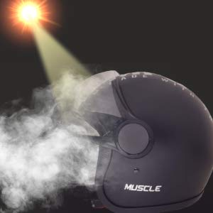 Sepia Muscle Rider Open Face Helmet