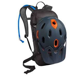 Camelbak, hydration pack, helmet carry, external helmet carry, hydration pack, bike backpack