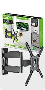 suporte tv, parede, elg, multiarticulado, articulado, tv suporte, A02V4N