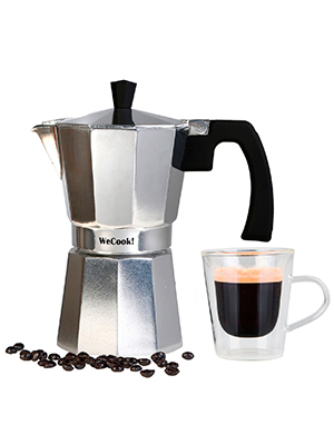 Wecook Paola Cafetera Italiana de aluminio express,12 tazas café ...