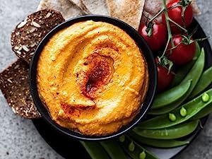 Bowl of hummus and veggies