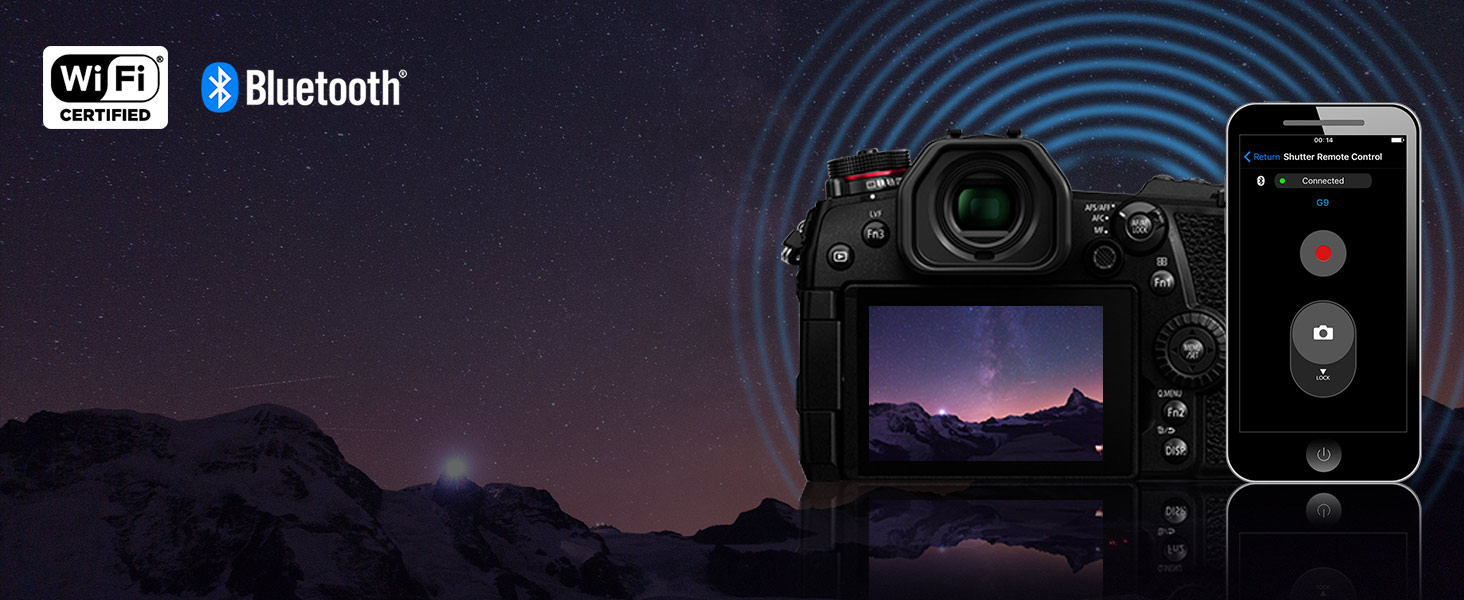 LUMIX G9 - Wi-Fi and Bluetooth enabled