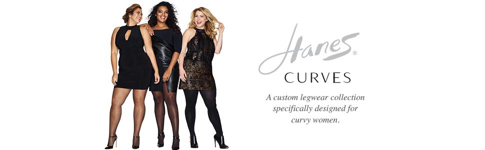 2d7483ce899a4 Hanes Women's Plus Size Curves Silky Sheer Legwear at Amazon Women's ...