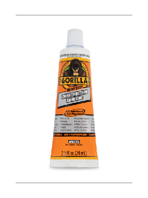 Gorilla Heavy Duty Construction adhesive squeeze tube waterproof liquid nails loctite