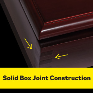image showing solid box joint construction