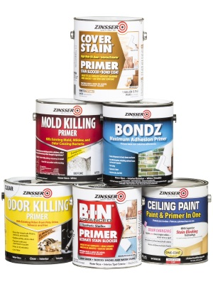 Zinsser stain, odor, mold, ceiling and hard to bond surface primers