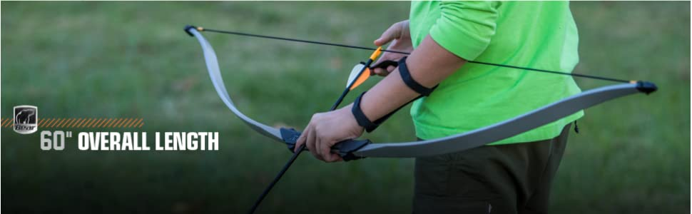 """Bear Archery Firebird Youth Recurve Bow 12 and Up 30-35 lbs 60/"""" Long"""