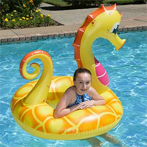 seahorse pool float;sea horse float;float tube;swimming pool floats;48 tube float;swimming pool tube
