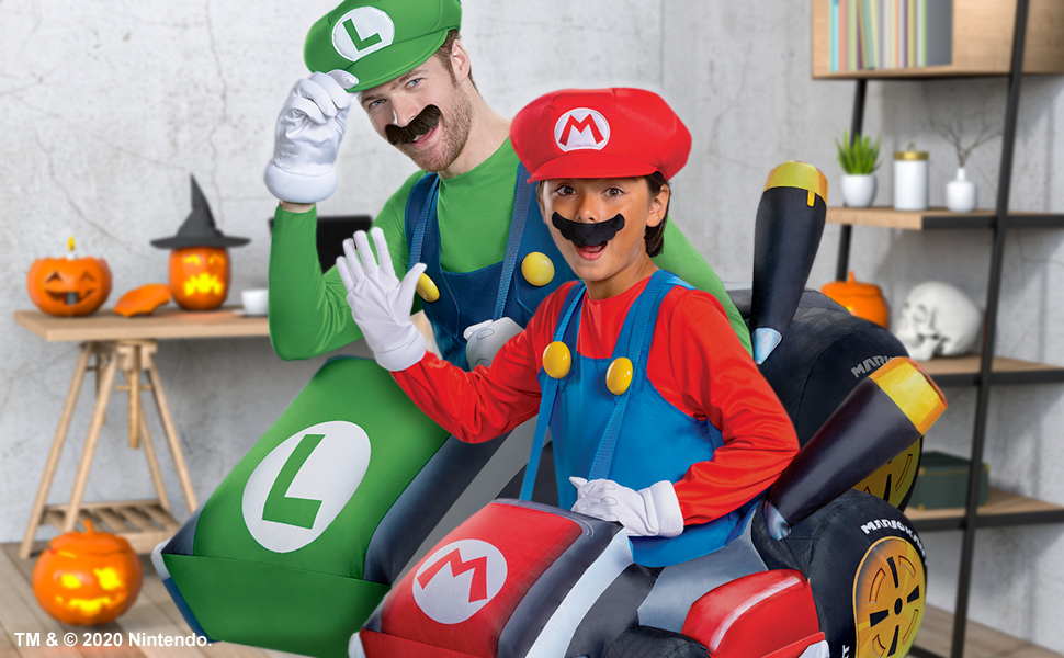 Nintendo Super Mario Halloween Costume Inflatable Mario Luigi Bowser Yoshi Peach Switch