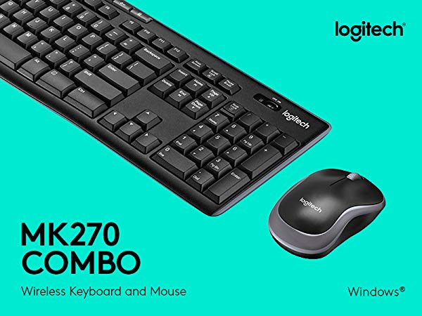 Logitech MK540 Pack Inalámbrico Teclado y Ratón para Windows, 2,4 GHz con Receptor USB Unifying, Teclas Multimedia, Batería de 3 Años, PC/Portátil, Disposición QWERTY Español, color Negro: Logitech: Amazon.es: Informática