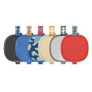 black speaker, blue speaker, red, speaker, camo speaker, gray speaker, cream speaker