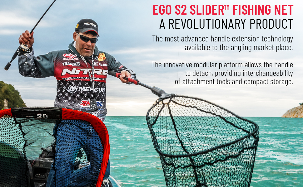 Ego S2 Large 19-Inch Clear Rubber Net