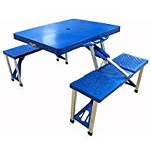 アルミピクニックテーブル ブルー