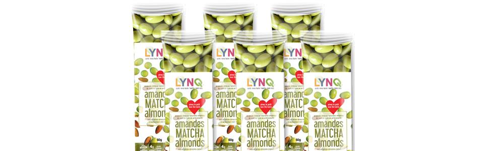 lynq, Matcha, organic matcha, lynq nutrition, healthy snacks, green tea, almond, california,