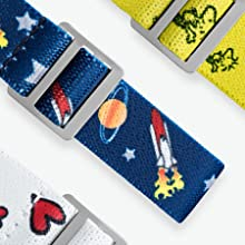Time Machines Peanuts Fabric Straps