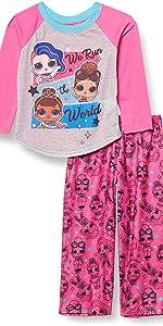 L.O.L. Surprise! Girls' 2-Piece Pajama Set