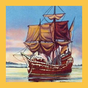 ocean voyage atlantic ships sailing galley galleys crossing america americas new world england