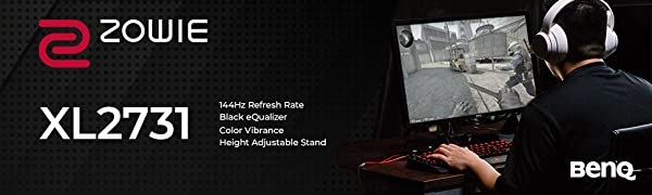 Zowie, gaming monitors, color vibrance, 144hz