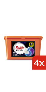 Robijn Black Velvet 3-in-1 Capsules voordeelverpakking wasmiddel voor zwarte was