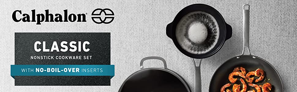 Calphalon, Nonstick, Cookware, no boil over