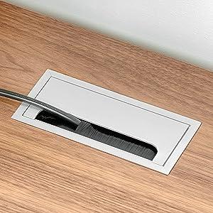 Emuca 3196621 Ausziehbare Tastaturablage mit zus/ätzlicher Einlage f/ür die Maus