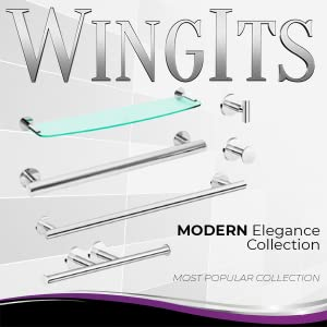 Stainless Steel Bath Accessories, Grab Bar, Robe Hook, Towel Bar, Toilet Paper Holder