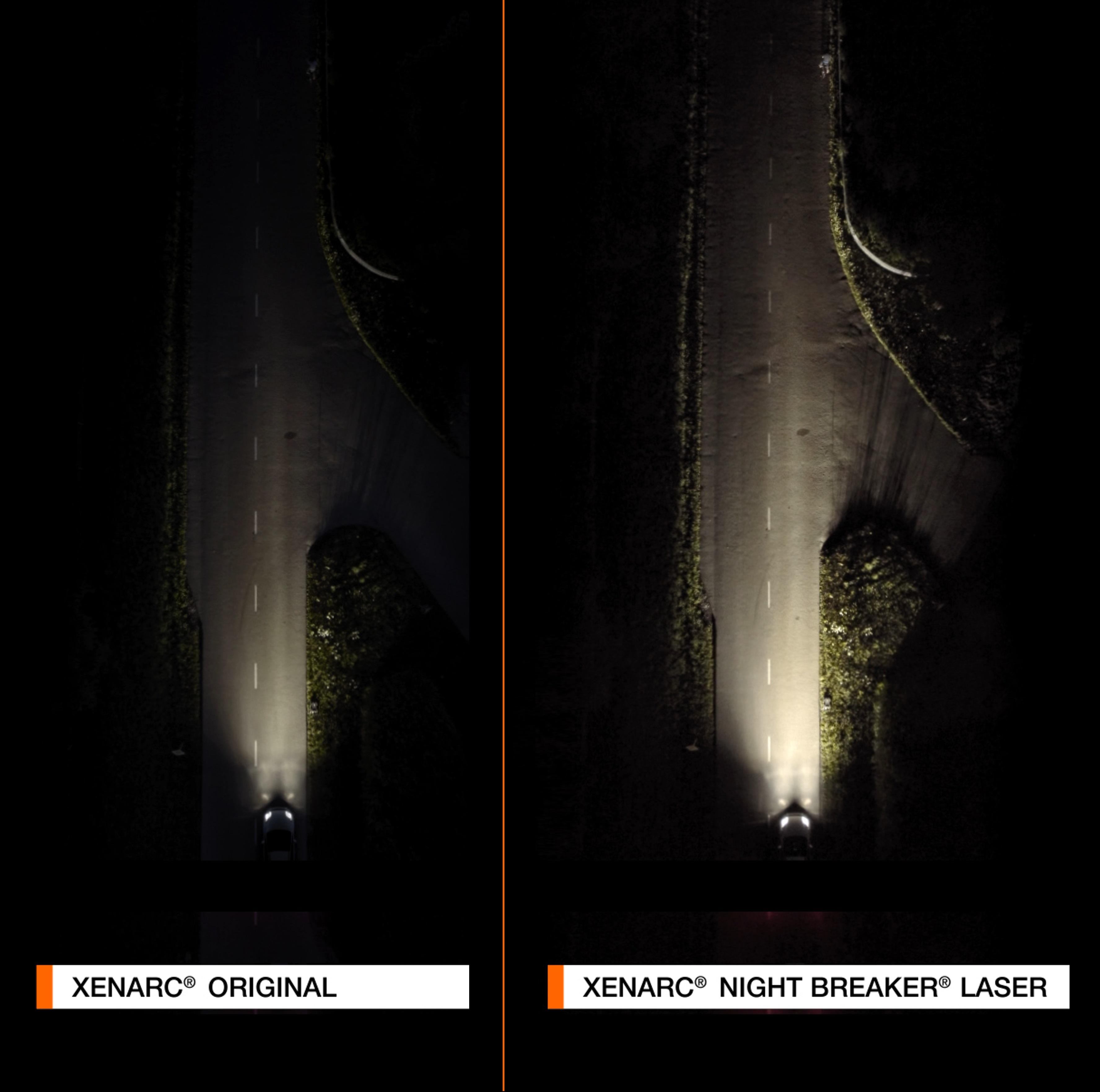 Osram Xenarc Night Breaker Laser D2s 200 Mehr Helligkeit Hid Xenon Scheinwerferlampe 66240xnl Hcb Duo Box 2 Lampen Auto