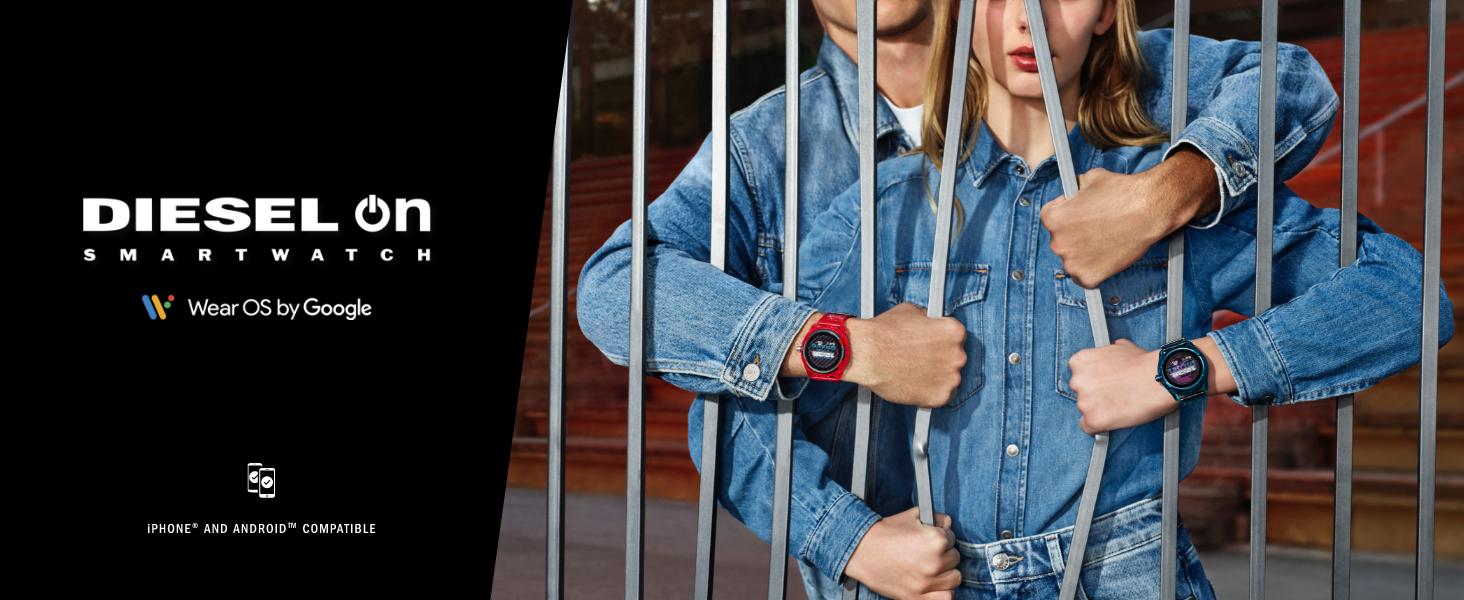 diesel smart watch, diesel on fadelite
