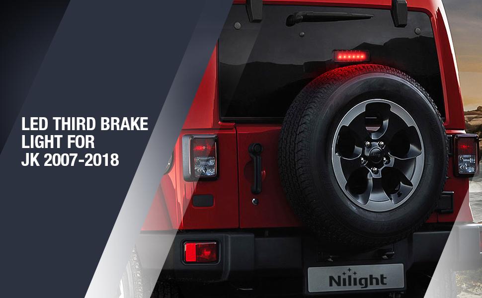 LED Third Brake Lights for jeep jk, 3rd brake light for jeep wrangler, high mount stop light