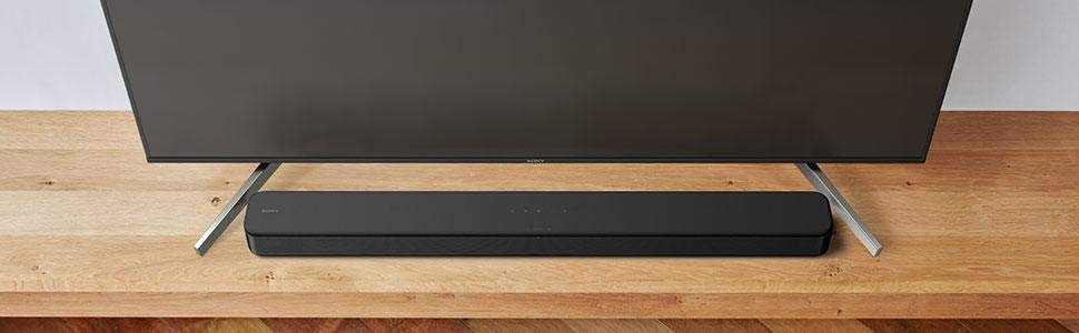 Picture of HT-S100F soundbar paired with a TV