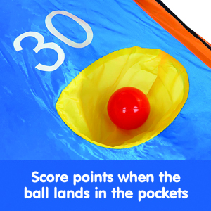 indoor toy, kids toy, sports, outdoor toy, storage bag included, 2 games in 1, durable, roll a score