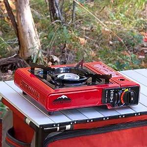 emergency kit, earthquake kit, camping cooking, teksport, patio cooking, propane, butane, standard,