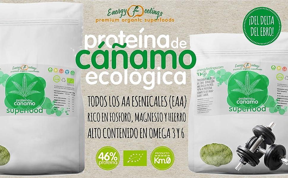 Energy Feelings Proteína de Cáñamo Eco - 1000 gr: Amazon.es: Salud ...