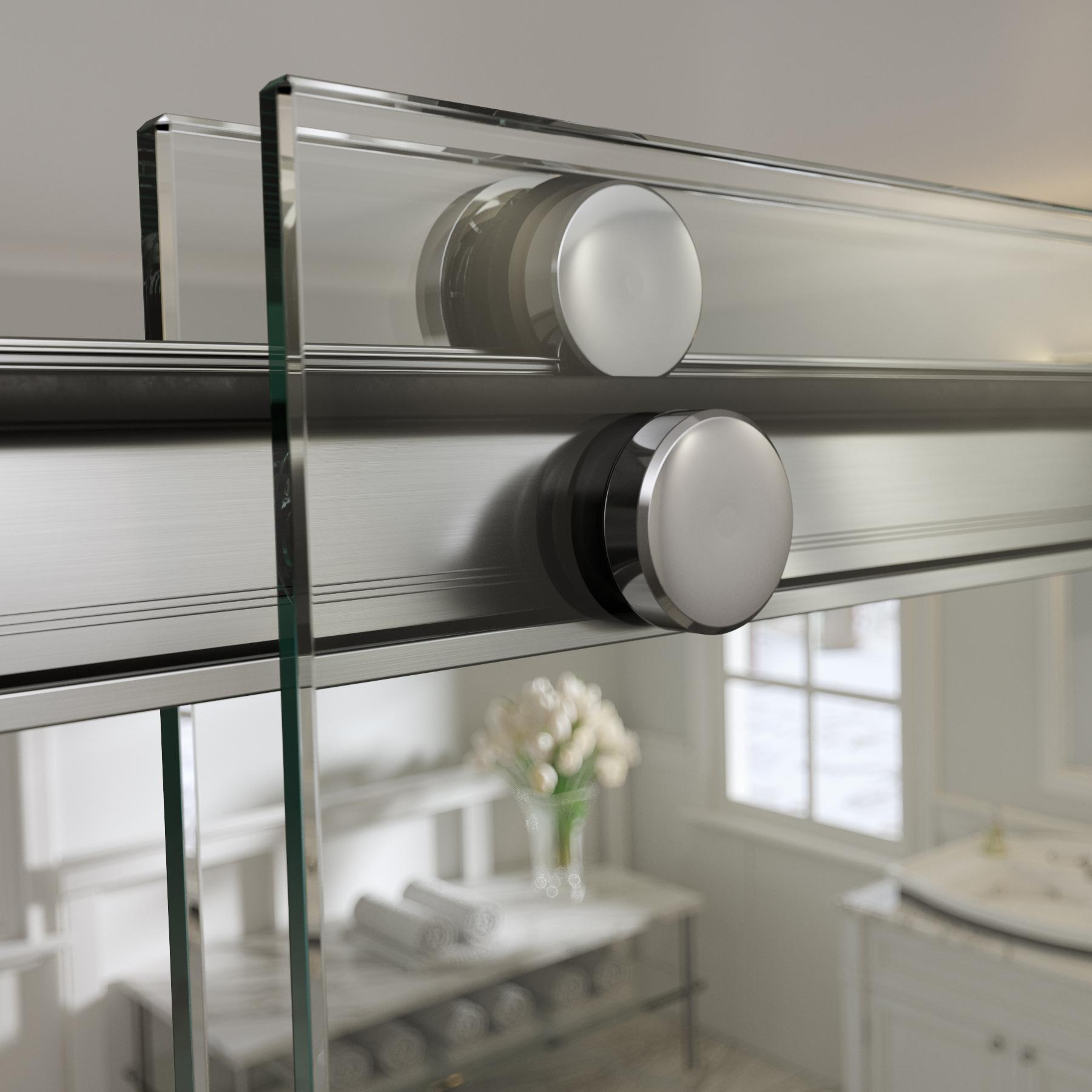 Basco Rotolo Sliding Shower Door Aquaglidexp Clear Glass