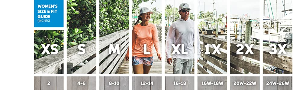 Women's long sleeve shirt sizing