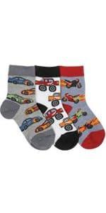 Jefferies Socks Little Boys' Speedy Triple Treat 3 Pack