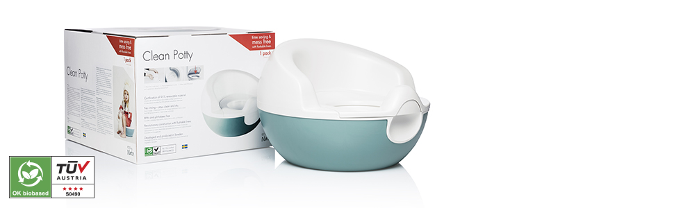 ecological clean potty seat eco by naty flushable liners easy cleanup made of sugar cane all natural