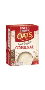 uncle tobys quick sachet oats instant breakfast original