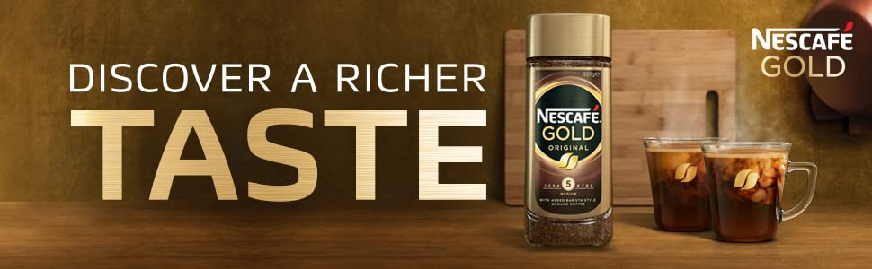 NESCAFE GOLD COFFEE DISCOVER A RICHER TASTE