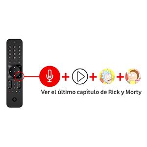 VODAFONE R3170301 Control Remoto de Reemplazo para Control por Voz de Vodafone, No Requiere Configuración, TV Control Remoto para Decodificador Vodafone TV 4K, Color Negro: Amazon.es: Electrónica
