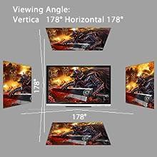 Der vertikal / horizontal 178 ° Blickwinkel garantiert eine einheitliche Farbe von Rand zu Rand