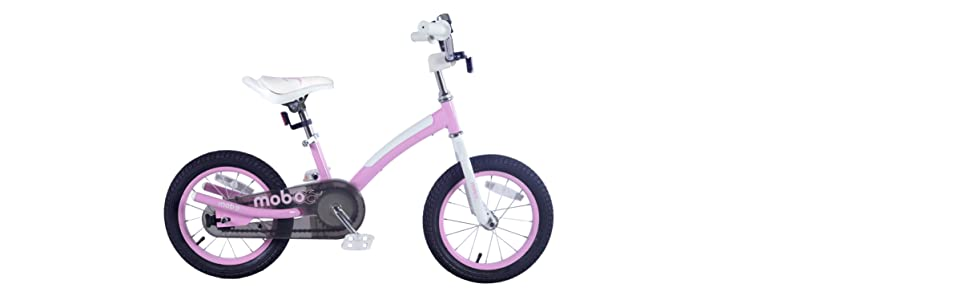 safe pink toddler bike for girls with training wheels