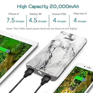 High Capacity and High-Speed Charging. BONAI 20000mAh power bank ...