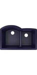 ELXHU3322RJB0 quartz luxe blue kitchen sink