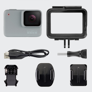 HERO7 White Ce qui est inclus, HERO7 White In box content, HERO7 White in box