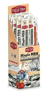 field trip maple bbq pork jerky gluten free vegetarian fed pork