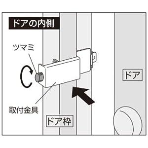 ガードロック外開き一枚扉用ぼー犯錠ダイヤル式
