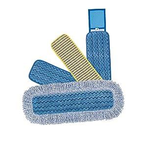 Box of 10 Rubbermaid HYGEN Microfibre Wet Mop Replacement Head Blue 40cm