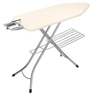 ironing board with linen rack; ironing board with rack wide ironing board; big ironing board