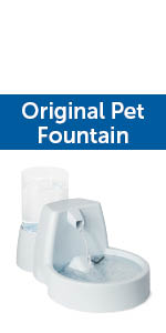 water fountain filtered filter dog dogs pet pets cat cat automatic stream flow pour bowl dish
